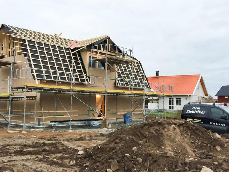 Elarbete i villa Uppsala